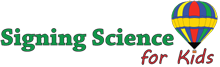 Signing Science for Kids logo