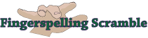Fingerspelling Scramble logo